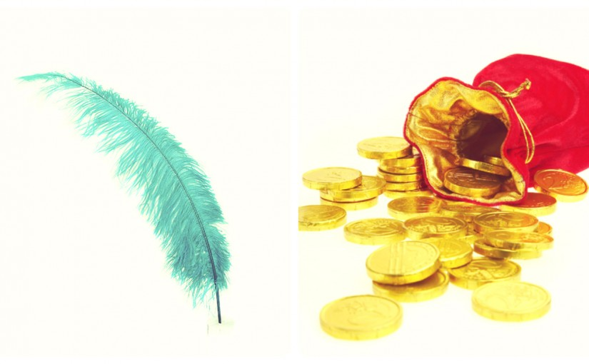 A Feather and a Bag of Gold